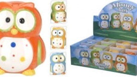 Pokladnička sova 4 barvy EXCELLENT KO-554888030, Modrá