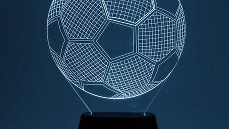 3D stolní lampa ve tvaru fotbalového míče
