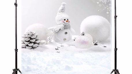 Ateliérové fotopozadí s vánočním motivem - sněhulák