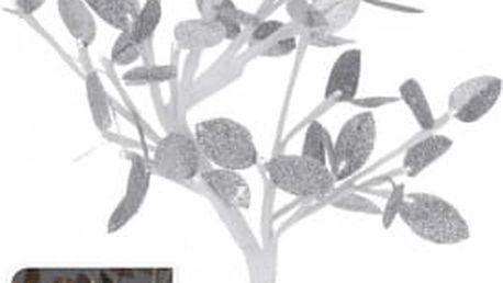 Vánoční světelný strom stříbrné listy, 96LED, 100 cm, teplá bíláEXCELLENT KO-AXF201370