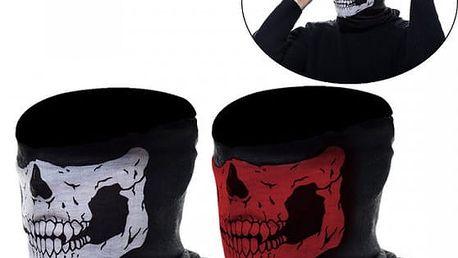 2 kusy zimní masky s motivem lebky