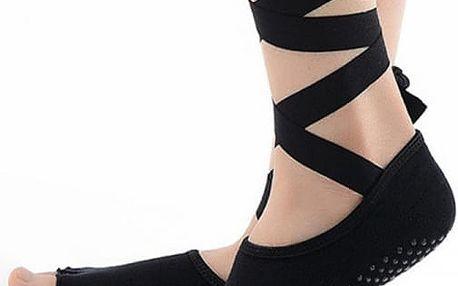 Dámské elegantní ponožky na cvičení