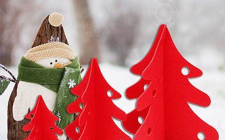 Látkový vánoční stromek k sestavení