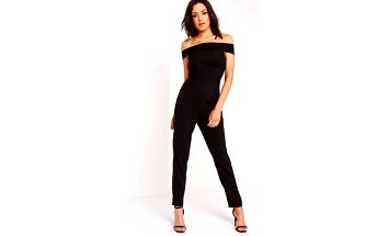 Missguided - Overal Crepe Skinny Bardot