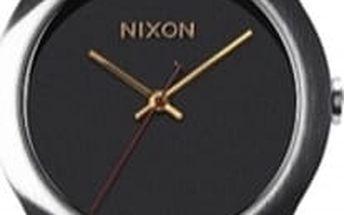 Nixon - Hodinky Mod Leather Black/Silver/Gold
