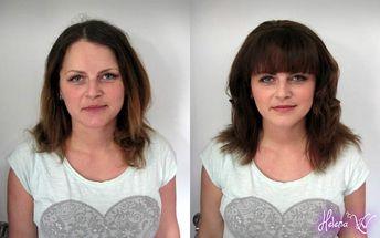 Kompletní 3hod. proměna vizáže - kosmetické ošetření pleti + nový střih, barva i líčení