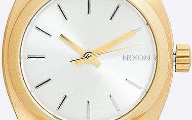 Nixon - Hodinky Small Time Teller Gold/Silver
