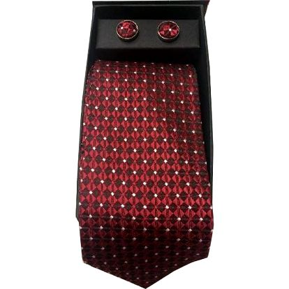 Kravata, manžetové knoflíčky a kapesníček v krásném balení včetně poštovného