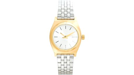 Nixon - Hodinky Small Time Teller Gold/Silver