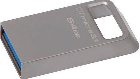 Kingston DataTraveler Micro 3.1 64GB (DTMC3/64GB) kovový