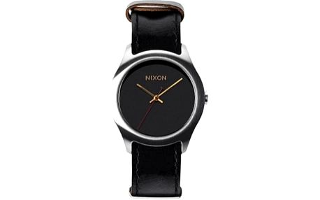 Nixon - Hodinky Mod Leather Black/Silver/Gold