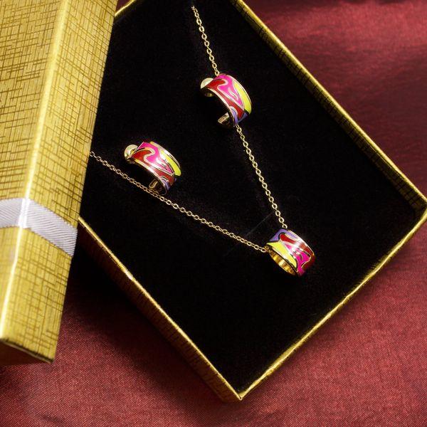Fashion Icon Fashion Icon sada náhrdelníku a náušnic s vlnkami