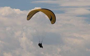 Tandem paragliding v různých lokalitách v ČR
