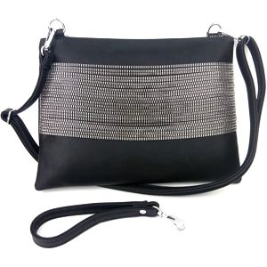 Dámská kabelka se stříbrnými řetízky Sandra