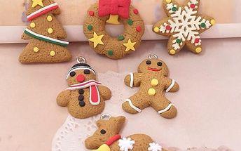 Vánoční ozdoby Perníčky 6 ks