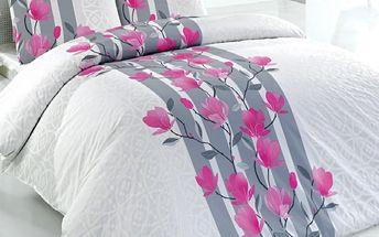 Tip Trade Bavlněné povlečení Carmine bílá, 140 x 200 cm, 70 x 90 cm