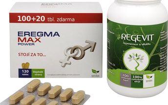 Sada Na Sexuální zdraví - Eregma MAX power 100 tbl. + 20 tbl. ZDARMA + Natural Medicaments Regevit 200 tbl.