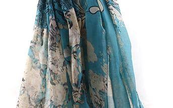 Dámský plážový šátek s módním potiskem