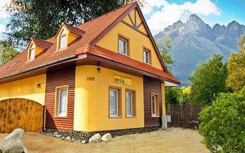 2 až 5denní pobyt pro 2 se snídaněmi v penzionu Crystal ve Vysokých Tatrách
