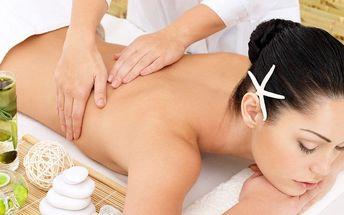 Regenerační masáž zad, šíje a krční páteře se zábalem