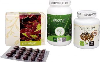 Sada Na Imunitu II. - Natural Medicaments Cordyceps Premium 90 kapslí + Natural Medicaments Regevit 200 kapslí + Energy Peralgin 120 kapslí