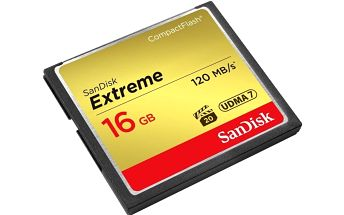 SanDisk CompactFlash Extreme 16GB 120MB/s - SDCFXS-016G-X46