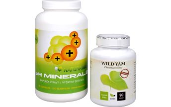 Sada Na Kosti - Wild Yam 90 kapslí + pH Minerals 320 g