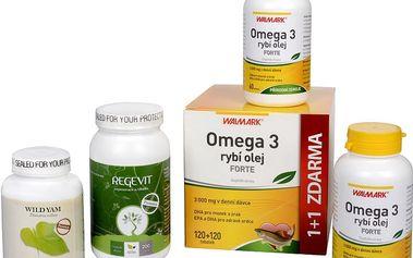 Sada Na Menopauzu - Natural Medicaments Regevit 200 tbl. + Rybí olej Forte-EPA + DHA 60 tob. + 7 tob. ZDARMA + Wild Yam Premium 90 kapslí