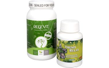 Doporučená kombinace produktů Na Stres - Regevit + Trend Relax