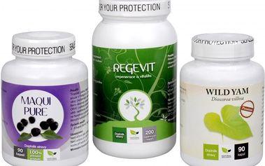 Sada Na Štítnou žlázu - Maqui Pure 90 kapslí + Natural Medicaments Regevit 200 tbl. + Wild Yam Premium 90 kapslí