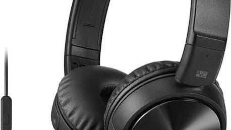 Sony MDR-ZX110NA, černá - MDRZX110NAB.CE7 + Sluchátka SONY MDR-EX15LPB, černá