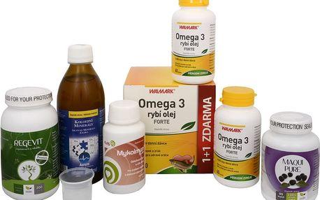 Sada Na Stárnutí - Maqui Pure 90 kapslí + Mykoimun 90 kapslí + Natural Medicaments Regevit 200 tbl. + Koloidní minerály 300 ml + Rybí olej Forte - EPA + DHA 60 tob. + 7 tob. ZDARMA