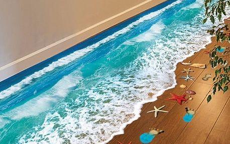 3D samolepka na podlahu Mořské vlny