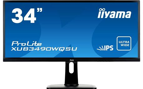 "iiyama ProLite XUB3490WQSU - LED monitor 34"" - XUB3490WQSU-B1"