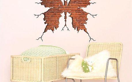 Originální 3D samolepka na zeď Butterfly