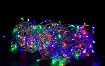 Vánoční LED osvětlení 10 m - barevné 100 LED