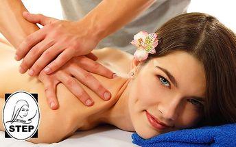 60minutová masáž zad dle vlastního výběru ve studiu Step v Praze