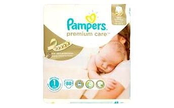 Pampers Premium Care Newborn vel. 1, 88 ks