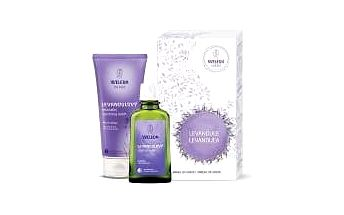 Weleda relaxační set Levandule sprchový krém 200 ml + zklidňující olej 100 ml dárková sada