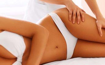 Ruční lymfatická masáž proti pomerančové kůži