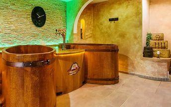 Beskydy pro DVA s privátní vířivkou a saunou, polopenzí a prohlídkou pivovaru