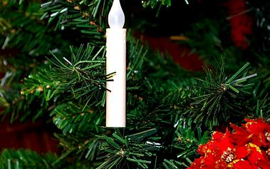 LED svíčky na vánoční strom - bezdrátové
