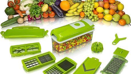 Multifunkční kráječ na ovoce a zeleninu - 10 dílná sada, čepele z nerez oceli.