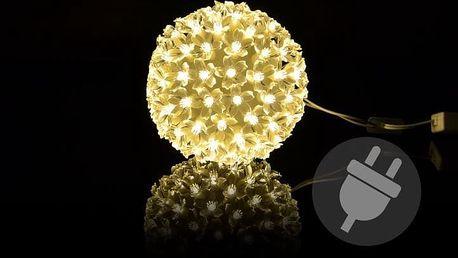 Vánoční dekorace - Vánoční LED koule - 12 cm