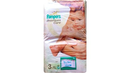 Pampers Premium Care 3 midi 4 - 9 kg 60 kusů