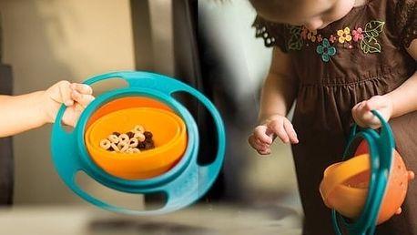 Gyro Bowl - kouzelná miska pro děti s rotací až 360 °