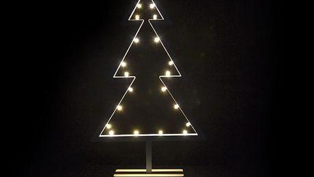 Nexos 28299 Vánoční dekorace - stromek na stojánku - 38 cm, 20 LED