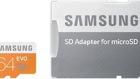 Micro SDXC 64GB Samsung EVO + SD adaptér