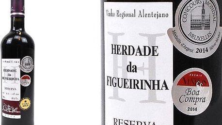 Kvalitní červené víno Herdade da Figueirinha Reserva 2011