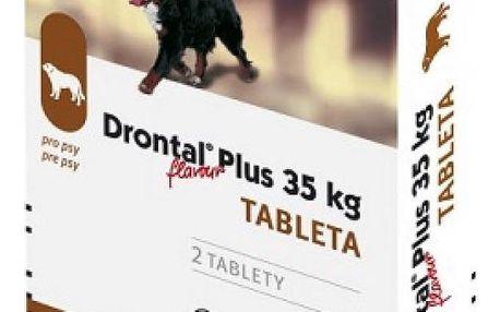 DRONTAL Plus flavour pro psi nad 35 kg a.u.v. 2 tablety